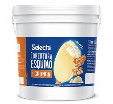 Cobertura Skimo Crunch Chocolate Branco Duas Rodas 12 KG