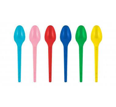 Colher sobremesa Color Mista Festa Straw cx 1000un