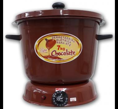 Derretedeira de Chocolate Marrom para 7 Litros