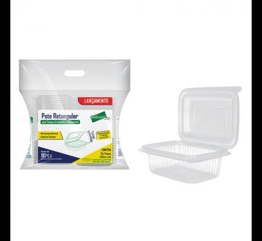 Kit Rioplastic com Retangular 250 ml c/ 24 un