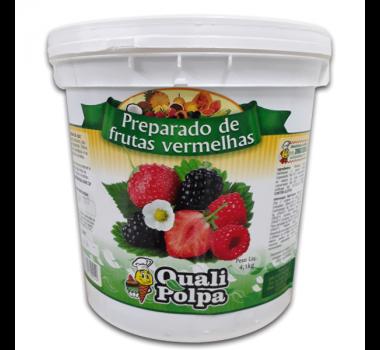 Preparo polpa de frutas vermelhas 4,1 Kg - Qualipolpa