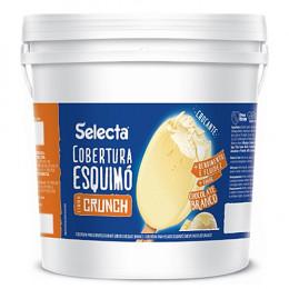 Cobertura Skimo Crunch Chocolate Branco Duas Rodas 4 KG